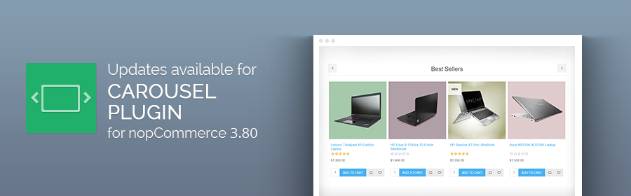 Nop Carousel plugin gets a major makeover for nopCommerce 3.80