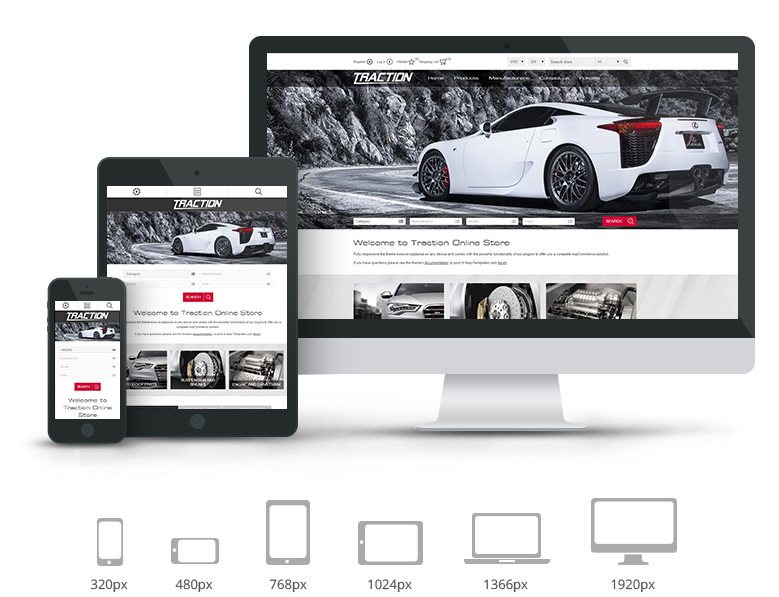Nop Traction Theme Responsive