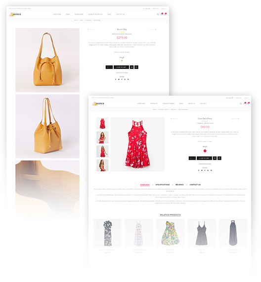 Avenue Theme has two product page layouts