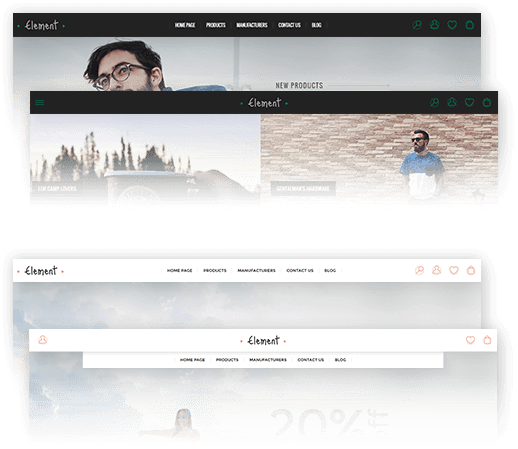 Element Theme Features - Header Layout
