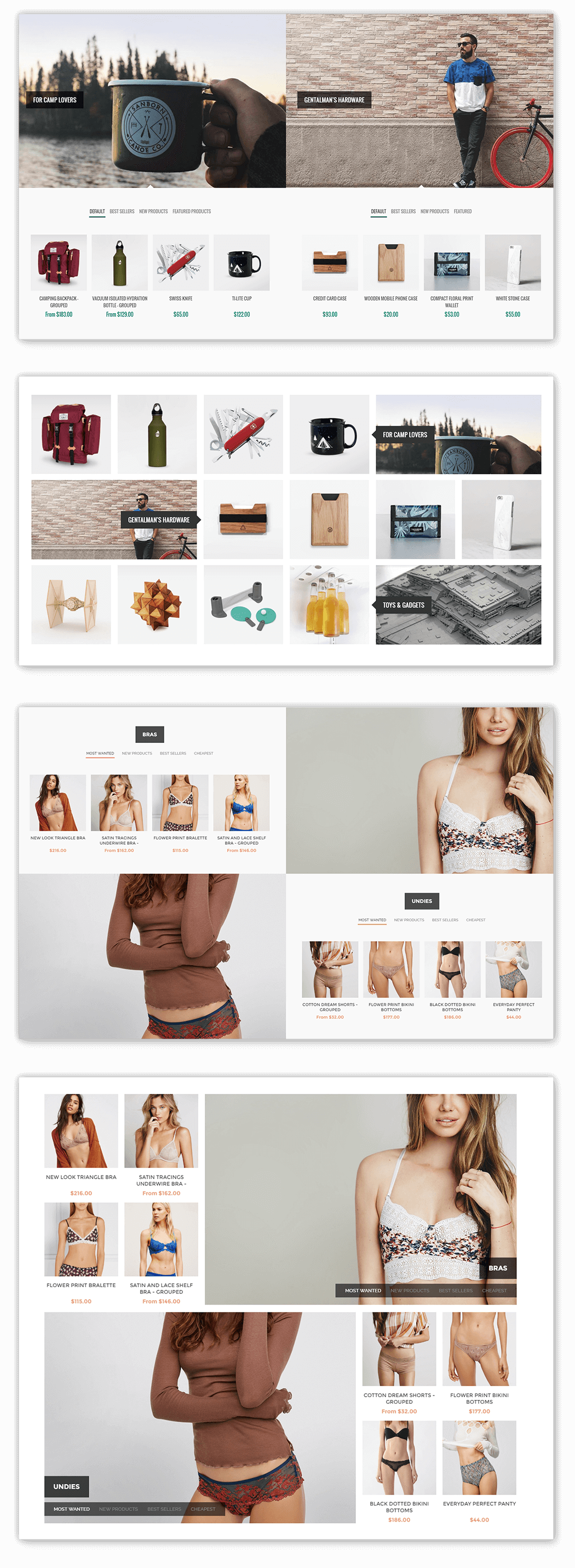 home page products