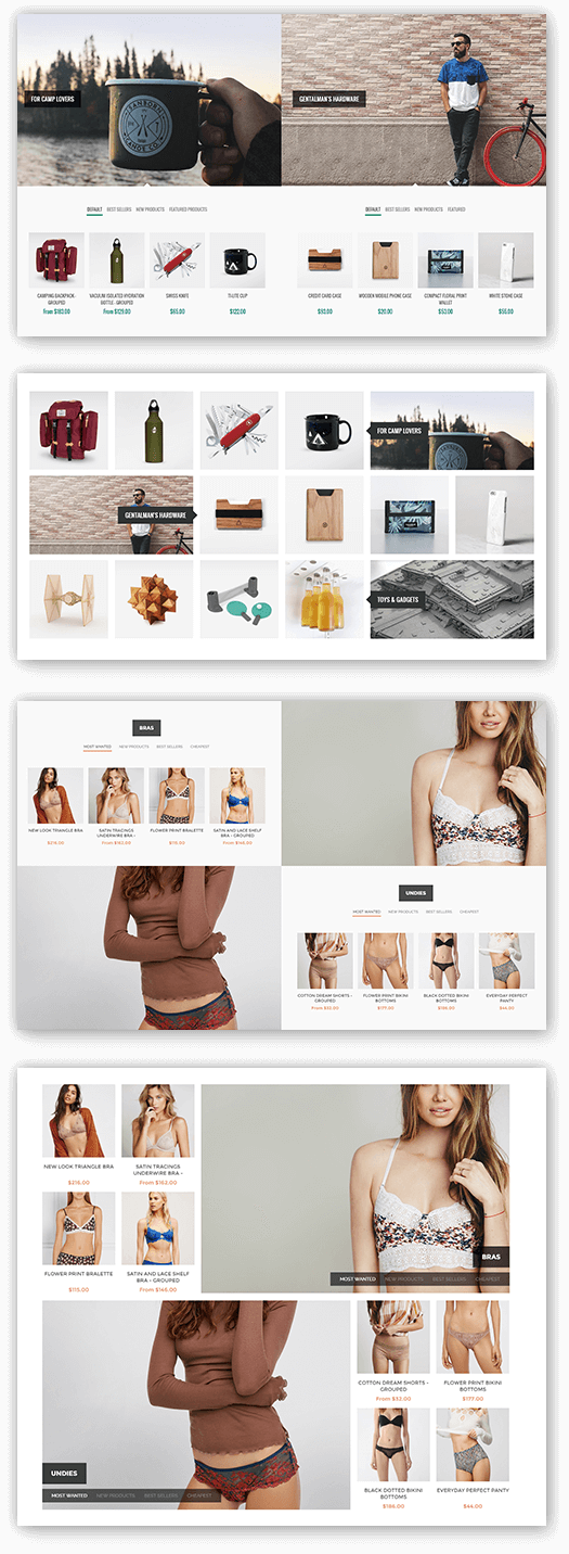 Element Theme Features - Smart Product Collections plugin included