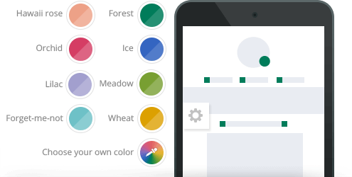 Color Presets Available for the Element Theme