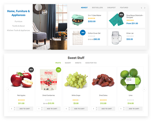 Emporium Theme Features - Smart Product Collections plugin included
