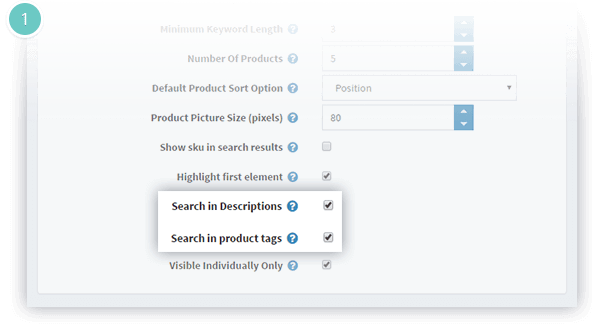Instant Search Plugin Features - search in product description or tags