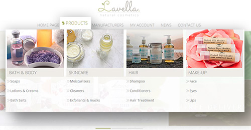 Lavella Theme Features - Mega Menu plugin included
