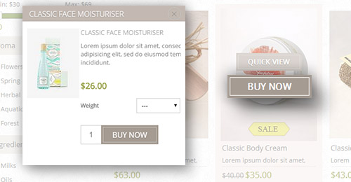 Lavella Theme Features - Ajax Cart plugin included