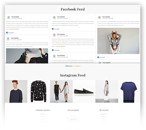 Minimal Theme Features - Social Feed plugin included