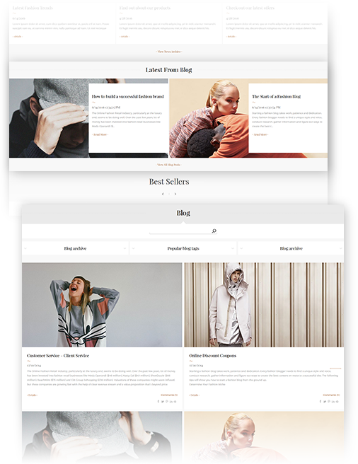 Minimal Theme Features - Rich Blog plugin included