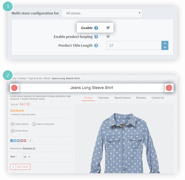 Previous/Next Product Plugin Features - prev/next product navigation