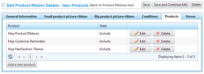 Product overrides tab