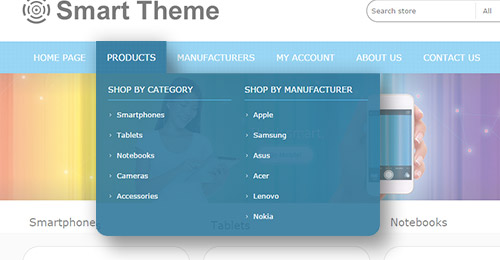 Smart Theme Features - Mega Menu plugin included