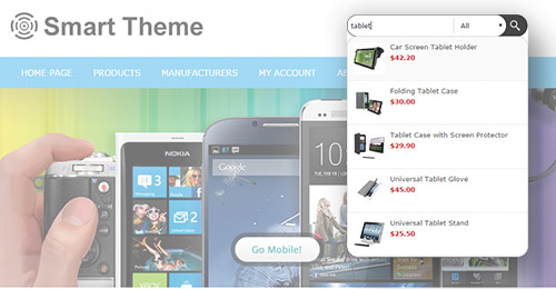 Smart Theme Features - Instant Search plugin included