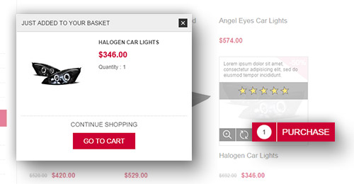 Traction Theme Features - Ajax Cart plugin included