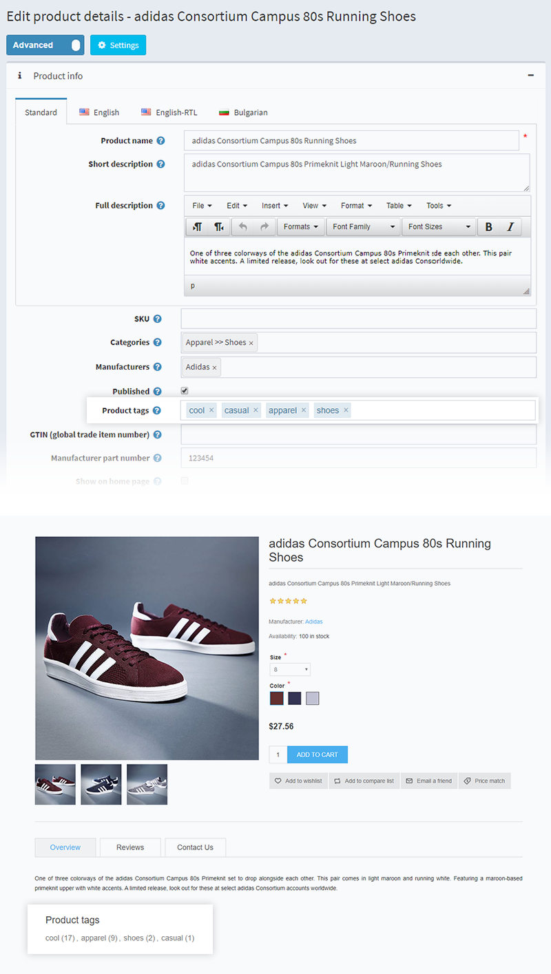 Product Tags in NopCommerce