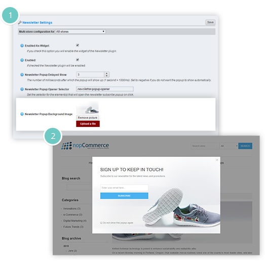 Newsletter Popup Plugin Features - add a background image for the pop-up
