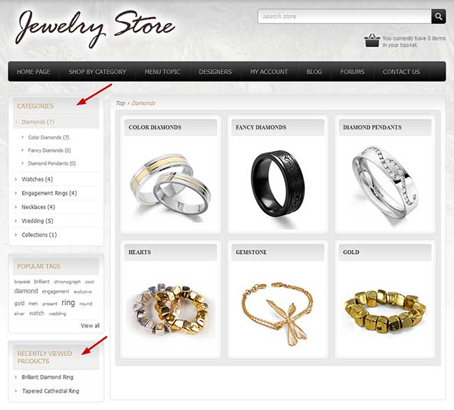 NopCommerce Category Navigation