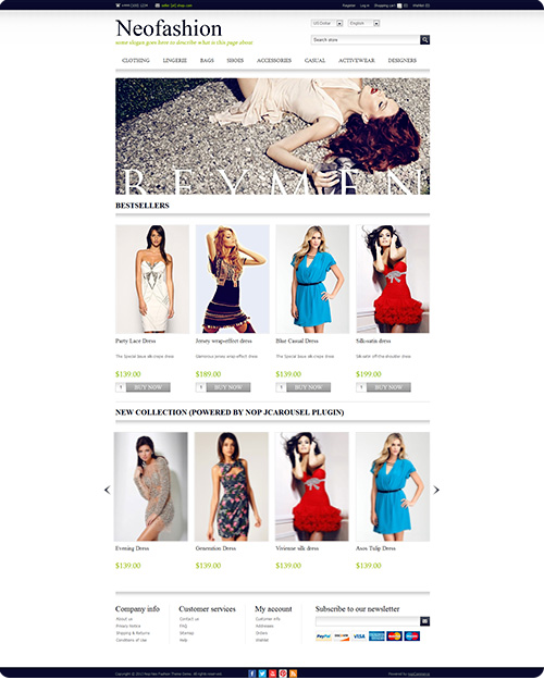 New nop neofashion theme released for nopcommerce 2 8 for Nop commerce templates