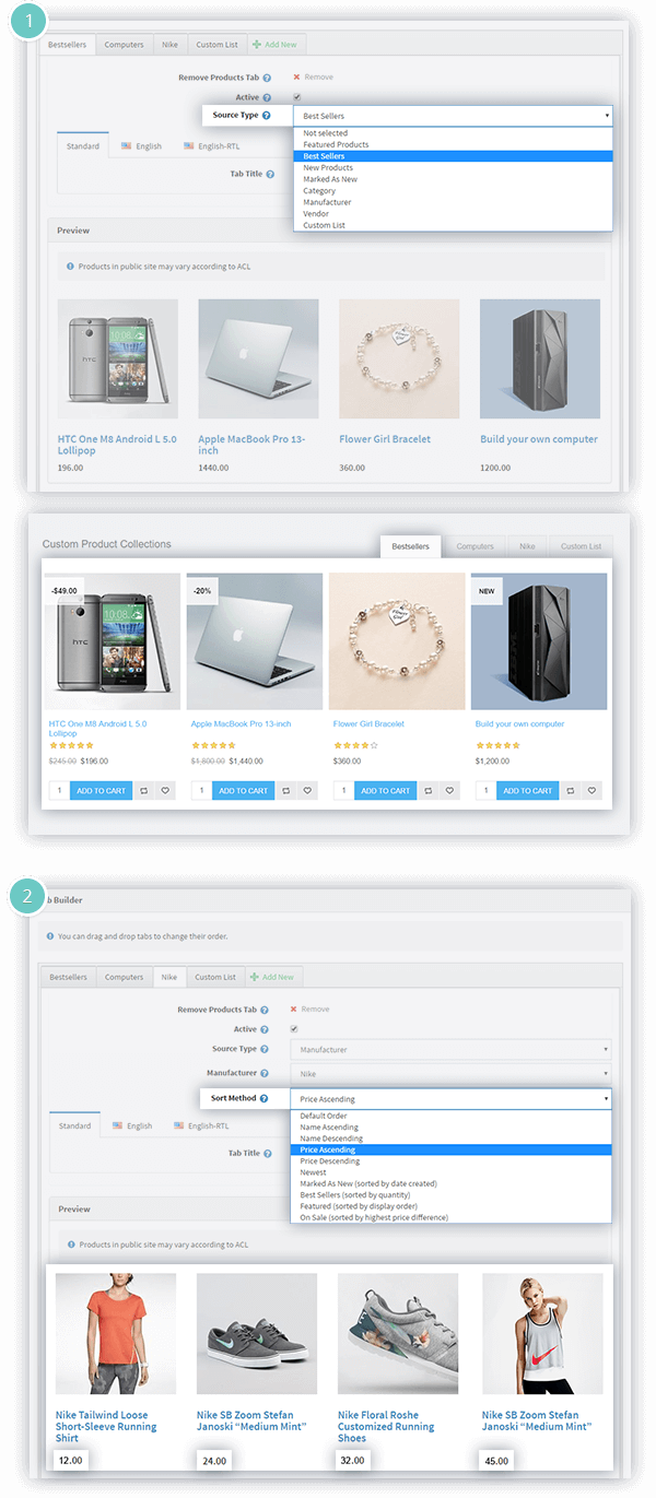 Smart Product Collections Features - product collections