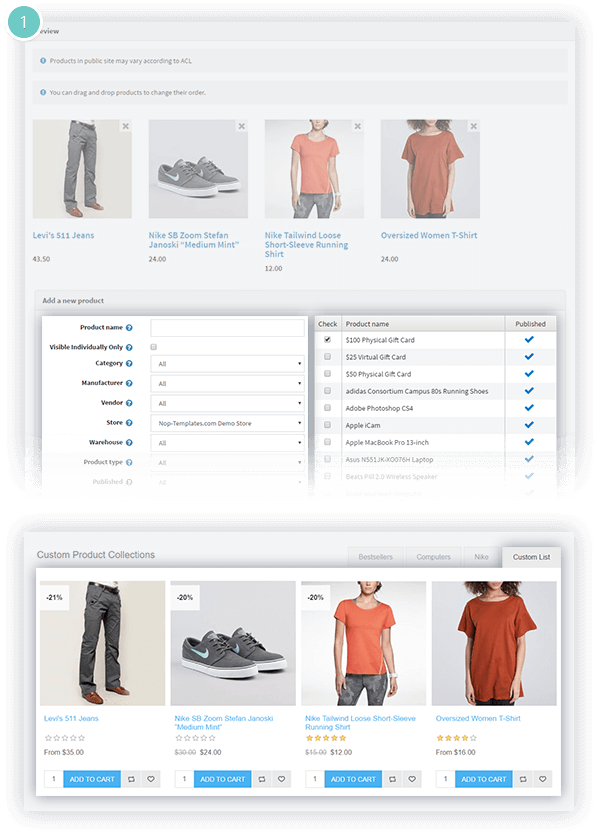 Smart Product Collections Features -custom list of products based on criteria