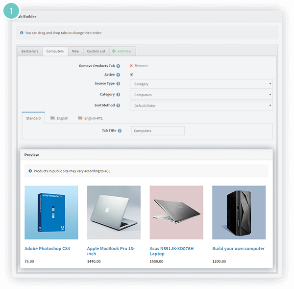 Smart Product Collections Features - use the intuitive tab builder to build your product collections