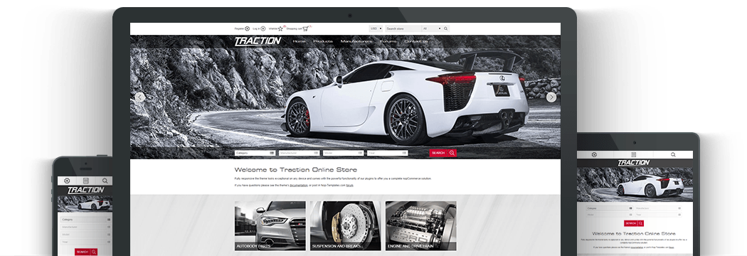 Nop Traction Responsive Theme