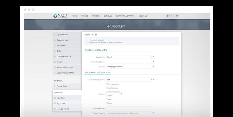 nopcommerce help desk plugin ecommerce extensions nop templates com