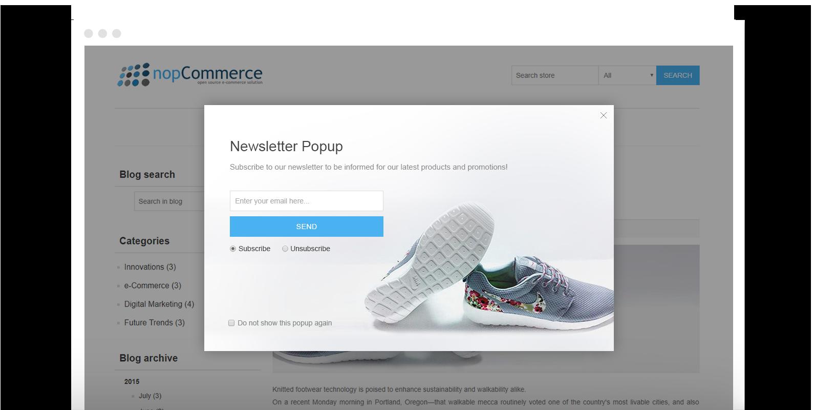 NopCommerce Newsletter Plugin | Ecommerce Extensions | Nop