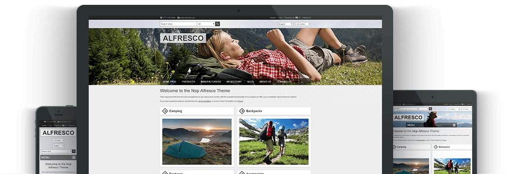 Nop Alfresco Responsive Theme