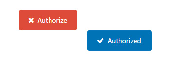 Comparison between the the authorize button and the authorized button.