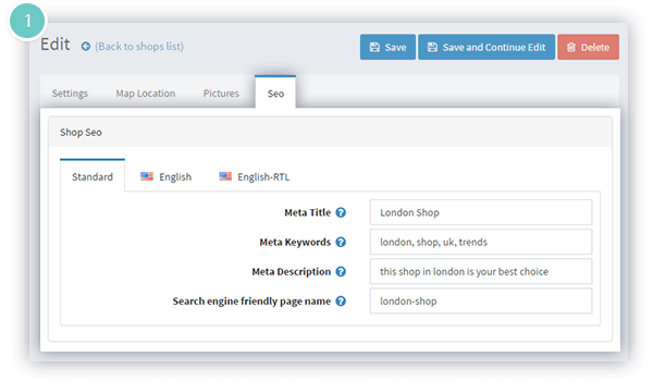 Store Locator Plugin Features - meta tags available