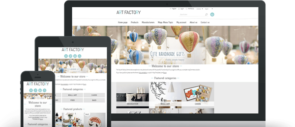 Preview of ArtFactory Theme for nopCommerce