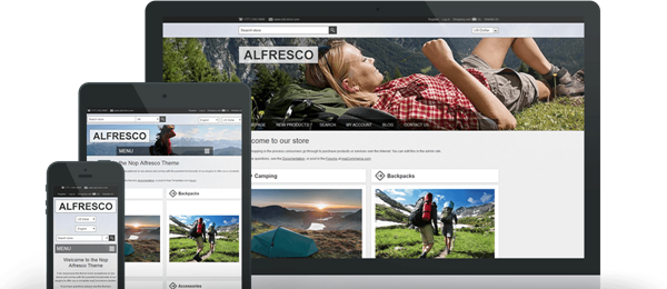 Preview of Alfresco Theme for nopCommerce