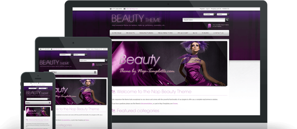 Preview of Beauty Theme for nopCommerce