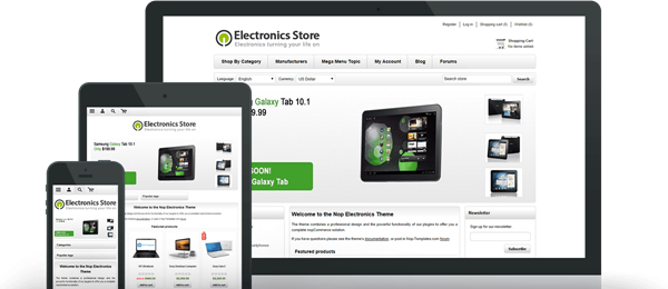 Preview of Electronics Theme for nopCommerce