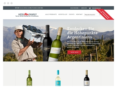 Hess Wine using Nop Motion Theme
