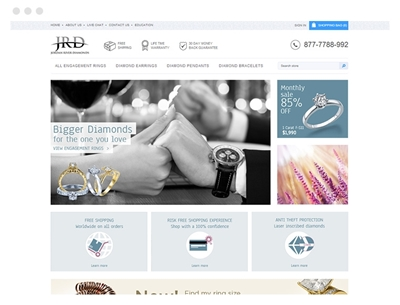 Jordan River Diamonds using the Nop Jewelry Theme