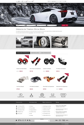 Traction Theme - Home Page