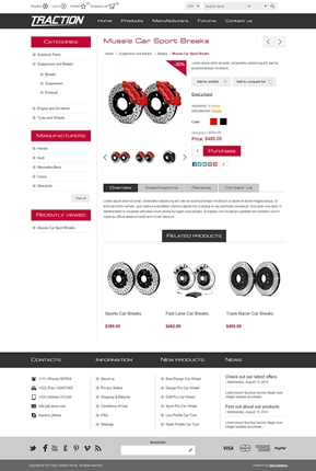 Traction Theme - Product Page