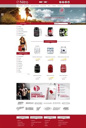 Nitro Theme - Home Page