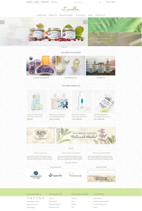 Lavella Theme - Home Page