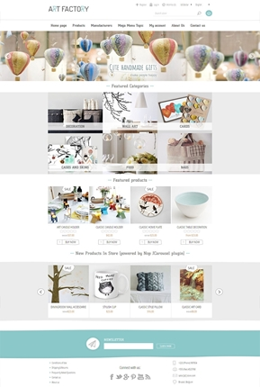 ArtFactory Theme - Home Page