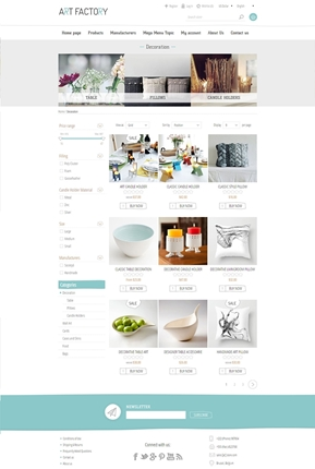 ArtFactory Theme - Category Page