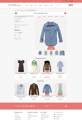 Allure Theme - Product Page
