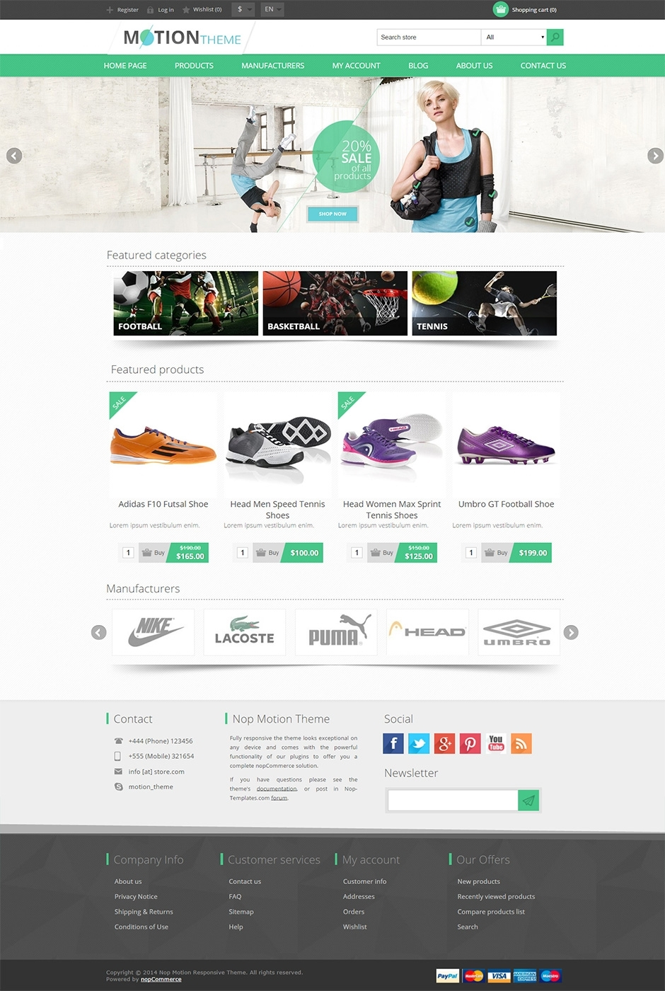 Motion nopcommerce theme premium ecommerce templates for Nop commerce templates