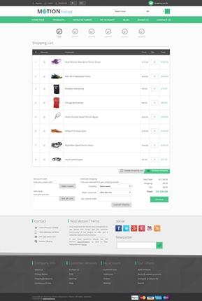 Motion Theme - Checkout Page