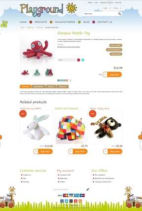 Playground Theme - Product Page
