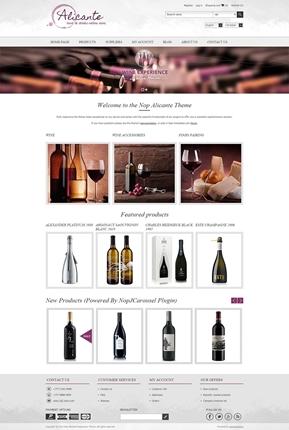 Alicante Theme - Home Page