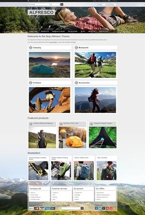 Alfresco Theme - Home Page