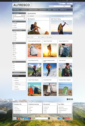 Alfresco Theme - Category Page